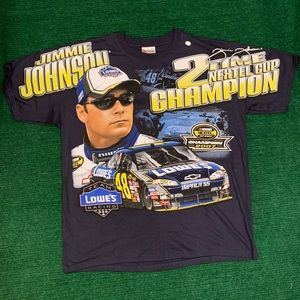 NWT NASCAR Jimmie Johnson all over print t shirt